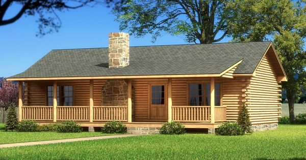 The Vicksburg Is One Of The Many Log Cabin Home Plans