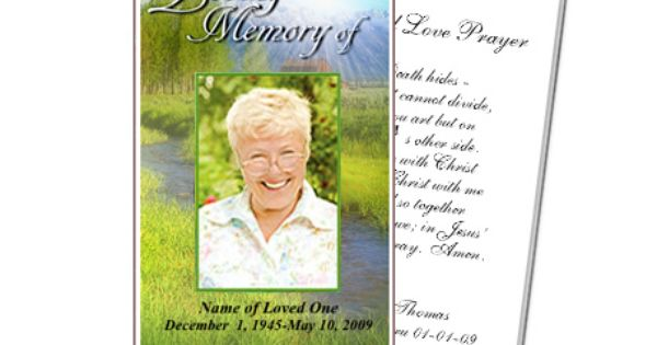Tranquil Outdoor Large Prayer Card Templates Funeral Templates Custom Business Cards Create Business Cards