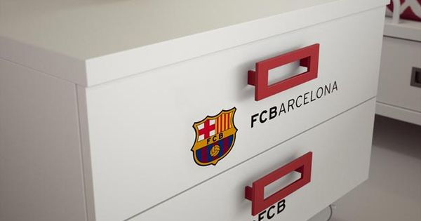 Fc barcelona bedroom for two kids mobiliario infantil y - Mobiliario infantil barcelona ...