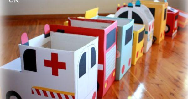homemade cardboard box cars 2