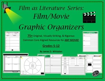 Film As Literature Graphic Organizers By James D Whitaker This Product Is Available In Bundled Form Fo Teaching Literature Graphic Organizers Teaching Theatre