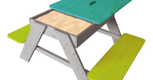 Table de pique nique et bac sable ext rieur for Bache exterieur table