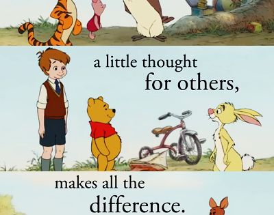 Life lessons from Winnie the Pooh.