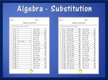 Algebra Worksheet Substitution Algebra Algebra Worksheets Free Algebra
