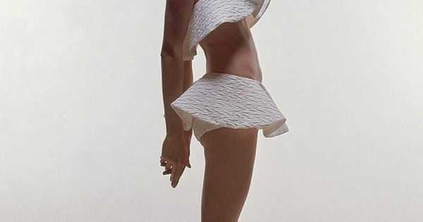 Vintage Vogue: 1969 White ruffle swimsuit- by Bert Stern♥✤ | Keep Smiling