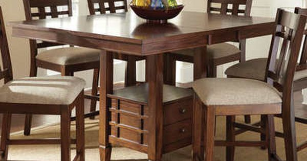Steve Silver Bolton 48 Inch Square Counter Height Table W