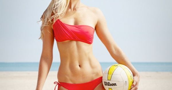 Tone up for your two-piece with competitive beach volleyball player Nora Tobin.