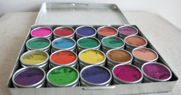 Water Color Paints Made From Flowers, my heart flutters over art supplies