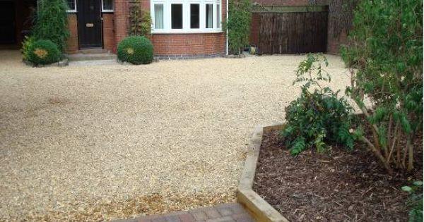 gravel driveway with sleeper edging   Landscaping   Pinterest   Gravel driveway, Driveways and ...