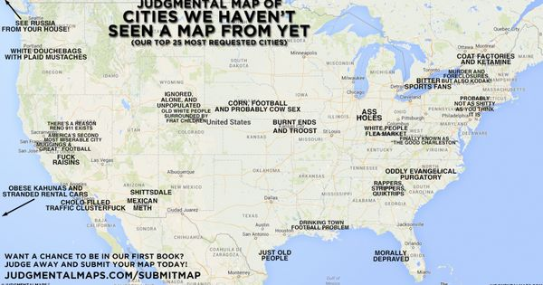 Judgmental Map of Cities We Haven't Seen A Map From Yet ...