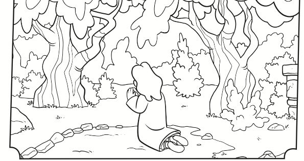 Kids Coloring Page From Whats In The Bible Showing Jesus