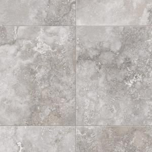 Trafficmaster Travertine Grey 12 Ft Wide X Your Choice Length Residential Vinyl Sheet U9880 407c992p144 At Vinyl Sheet Flooring Vinyl Flooring Bathroom Vinyl
