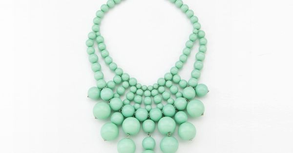 Sea Green Bauble Necklace