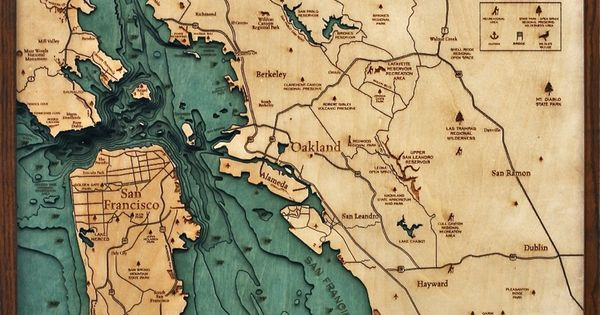 Bathymetric Map Of The San Francisco Bay Area Extremely
