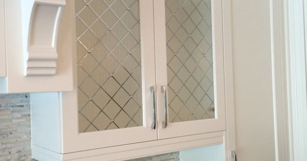 Decorative Cabinet Glass Inserts With Rain Glass And