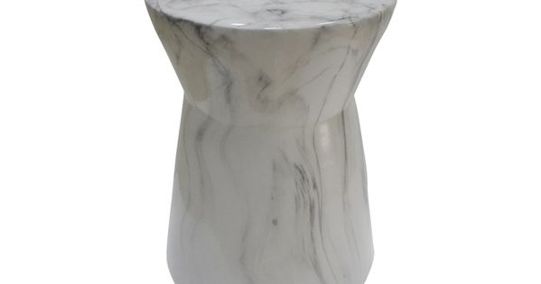 Maleo White Accent Stool Marble Stools Accent Stool Bar Furniture