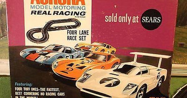 Aurora Model Motoring Afx Daytona Curve 4 Lane Ho T Jet Slot Car Race Track Set With Orange No 2 Cheetah Slot Cars Slot Car Racing Slot Car Race Track