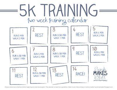 2 Week 5k Training Calendar Free Download 5k Training 5k