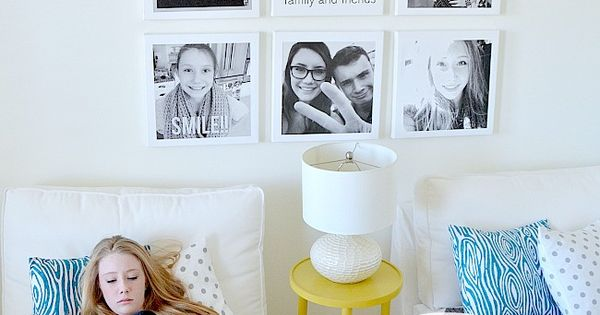 Cool instagram selfie wall for a teen 39 s room tatertots for Creative selfie wall