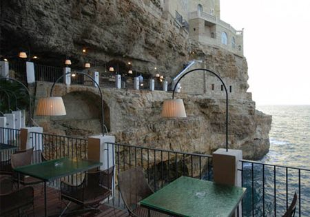The Seaside Restaurant, located in the city of Polignano a Mare in