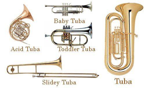 Boys Girls Kids TROMBONE T-Shirt Music Instrument Musician Band Brass Family