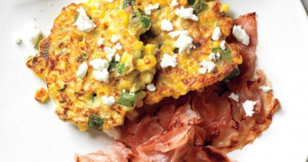 Corn Cakes with Goat Cheese   Recipe   Corn cakes, Goat cheese and ...