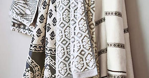 Stone carvings towel collection towels patterns and tossed