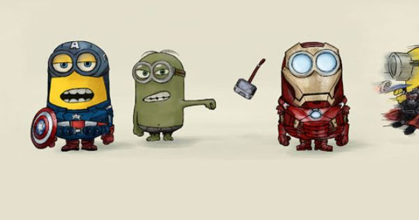 The Avenger Minions! Two of my favorite movies!
