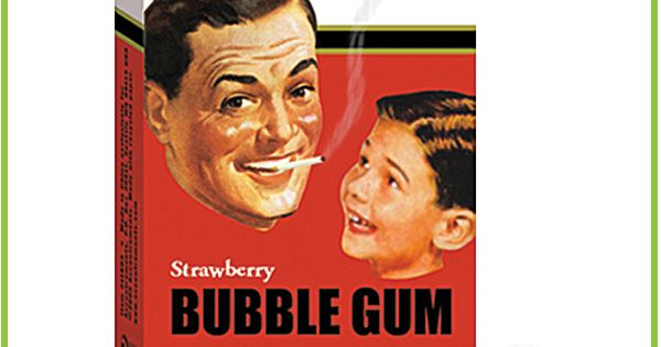 Bubble gum cigarettes i used to get these everytime we went somewhere