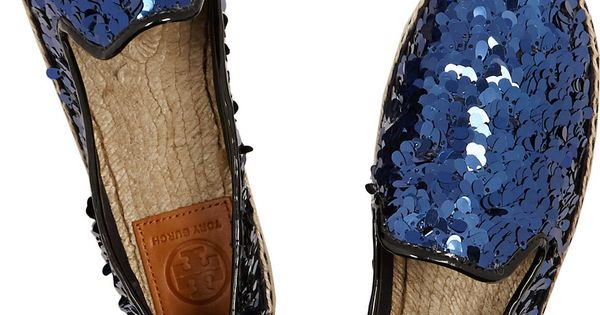 Tory BurchMischa sequined canvas espadrilles | See more about Espadrilles, Canvases and Products.