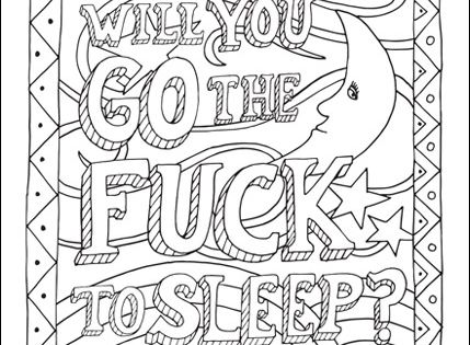 free curse word coloring page for