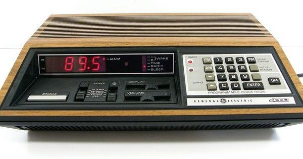 details about vintage ge general electric digital alarm clock am fm radio 7 4880a more. Black Bedroom Furniture Sets. Home Design Ideas
