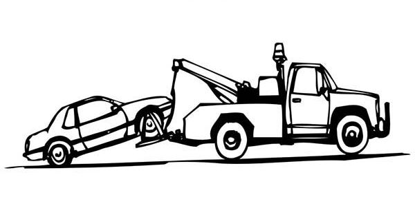 Tow Truck Truck Coloring Pages Tow Truck Towing
