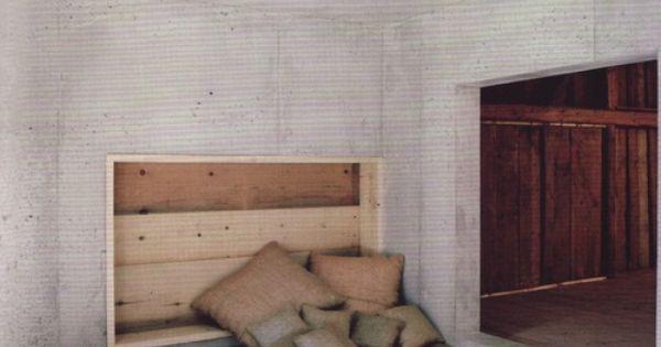 'build in floor' bed.  Interior  Pinterest