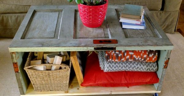 old door projects | Salvaging from scrap: Recycled Door Coffee Table that
