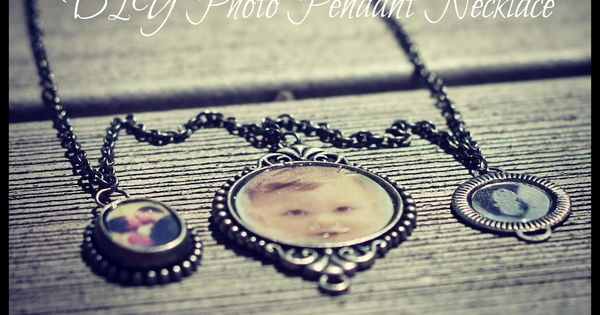 Small Things: DIY Photo Pendant Necklace find glass tiles bails bases at
