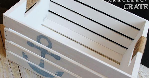 Diy distressed nautical crate creative pantone color for Creative crates