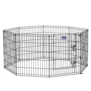 Midwest Exercise Pen With Door Dog Crate Wire Dog Crates