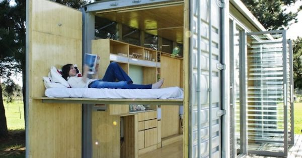 Upcycled port a bach container home by atelierworkshop tiny homes bob vila 39 s picks - Bob vila shipping container homes ...