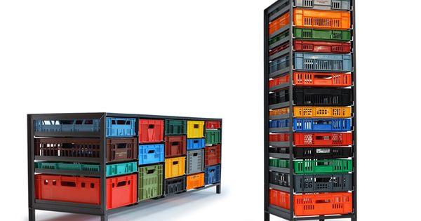 Fantastic. Mark van der Gronden's Krattenkast storage units Crate storage!!!
