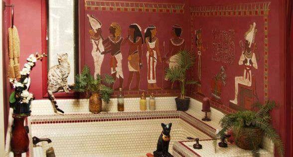 Egyptian bathroom egyptian inspired decor pinterest for Bathroom accessories egypt