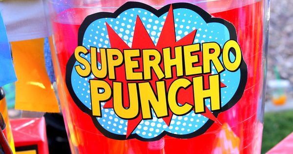 Superhero Party Superhero Punch Signs Superhero