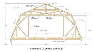 Gambrel Roof Barn Gambrel Roof Gambrel Roof Trusses Attic Truss