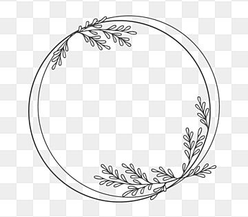 Frame Leaves Floral Clipart Png Vector Element Vector Design Frame Png And Vector With Transparent Background For Free Download Doodle Frames Circle Clipart Decorative Leaves