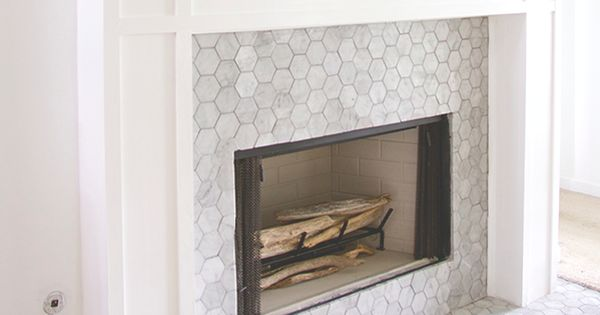 Carrara Bianco 3 Hexagon Honed Fireplace Mosaic Tile