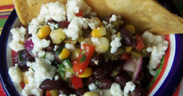 Black Bean, Cactus and Corn Salsa with Queso Fresco | Corn salsa ...