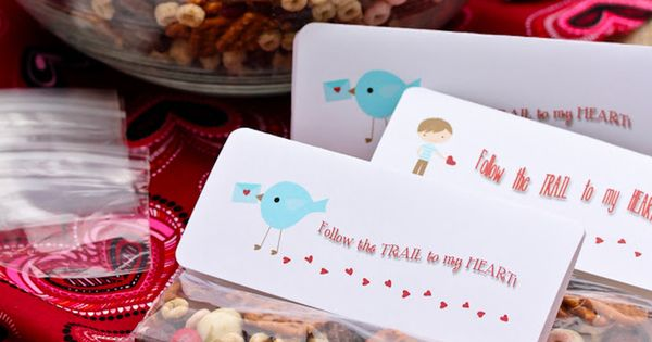 Homemade trail mix, Snacks and Valentines on Pinterest