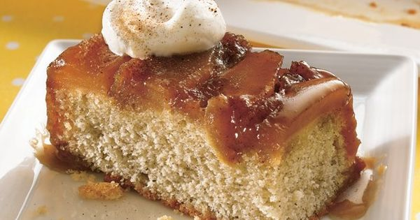 Caramel Apple Upsidedown Cake