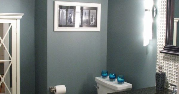benjamin moore, smokestack grey, bedroom color?- LOVE this with the crown molding