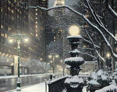 Winter's Night, New York City winter wonderland inverno usa newyork travel experiences